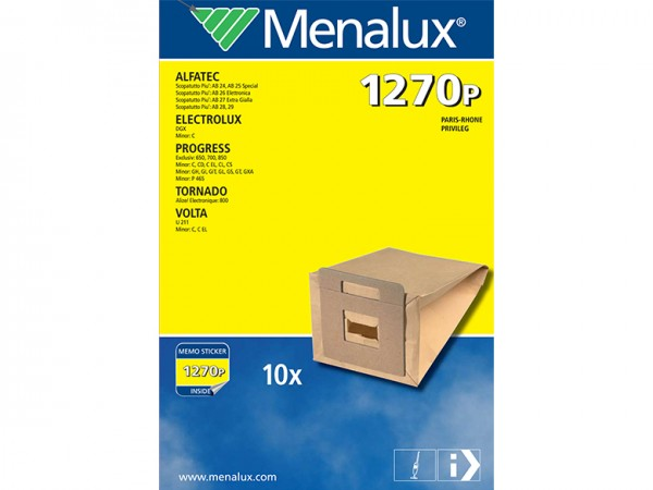 Menalux 1270 P Staubsaugerbeutel - Inhalt 20 Stück