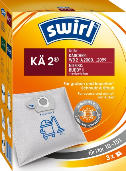 Swirl KÄ 2 Staubsaugerbeutel - Inhalt 6 Stück
