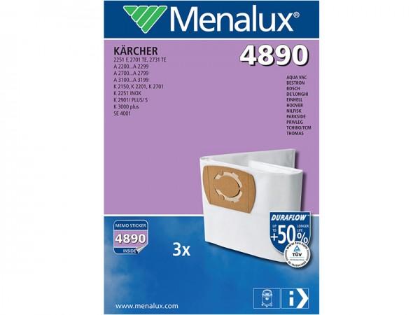 Menalux 4890 Staubsaugerbeutel - Inhalt 6 Stück