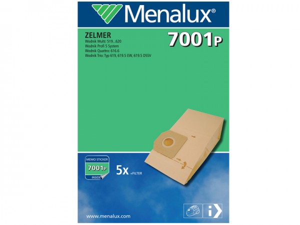 Menalux 7001 P Staubsaugerbeutel - Inhalt 10 Stück