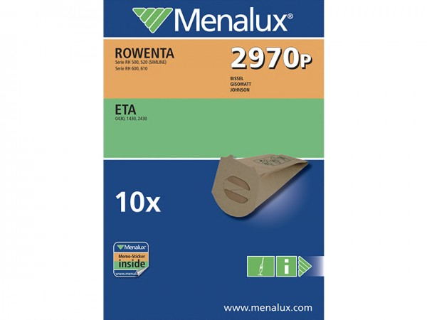 Menalux 2970 P Staubsaugerbeutel - Inhalt 20 Stück