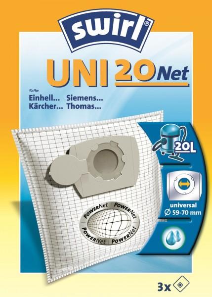 Swirl UNI 20 NET Staubsaugerbeutel - Inhalt 6 Stück