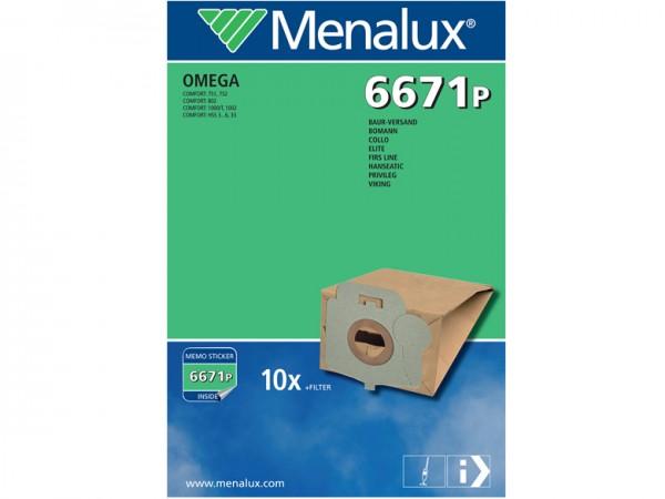 Menalux 6671 P Staubsaugerbeutel - Inhalt 20 Stück