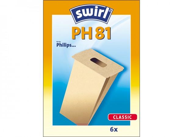Swirl PH 81 Staubsaugerbeutel - Inhalt 12 Stück
