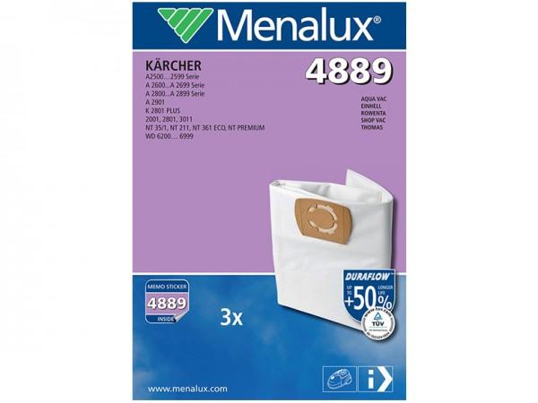 Menalux 4889 Staubsaugerbeutel - Inhalt 6 Stück