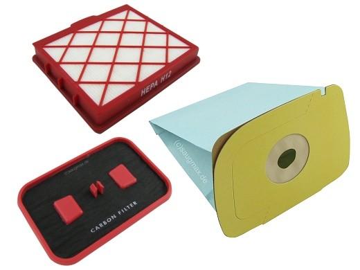 Staubsaugerbeutel EM 1, Kohle- und Mikrofilter geeignet Lux 1