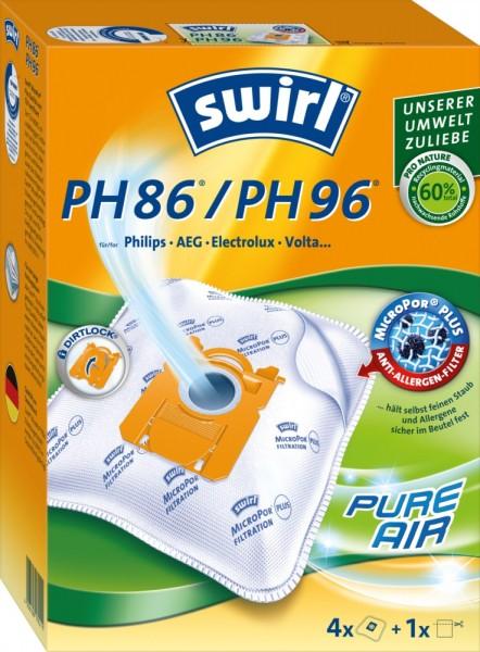 Swirl PH86 / PH96 Staubsaugerbeutel - Inhalt 8 Stück
