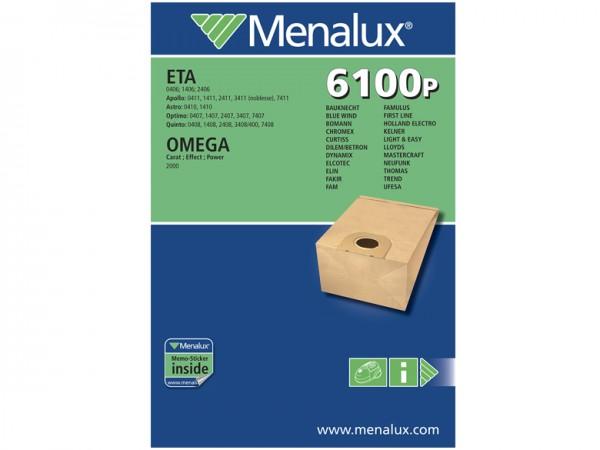 Menalux 6100 P Staubsaugerbeutel - Inhalt 10 Stück