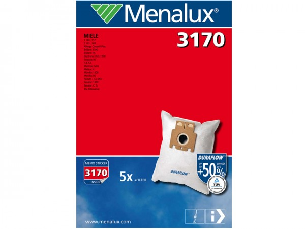 Menalux 3170 Staubsaugerbeutel - Inhalt 10 Stück