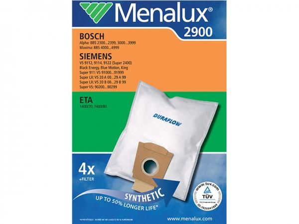Menalux 2900 Staubsaugerbeutel - Inhalt 8 Stück