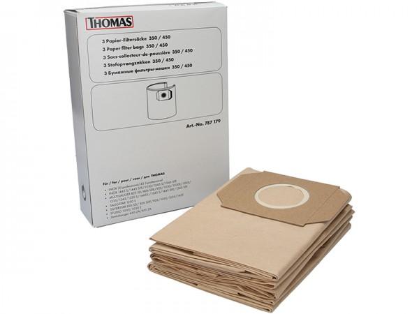 THOMAS Papier-Filtersäcke 350 / 450 - 787179 - Inhalt 3 Stück