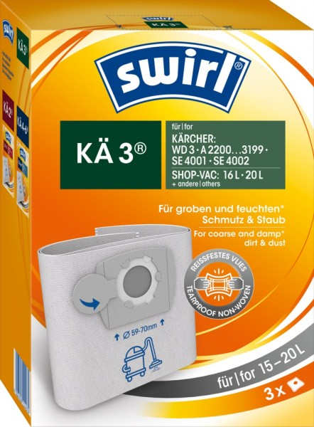 Swirl KÄ 3 Staubsaugerbeutel - Inhalt 6 Stück