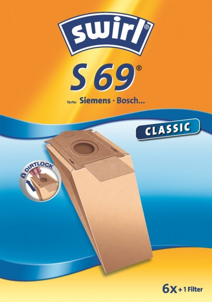 Swirl S 69 Staubsaugerbeutel - Inhalt 12 Stück