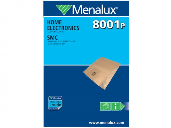 Menalux 8001 P Staubsaugerbeutel - Inhalt 10 Stück