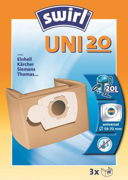 Swirl UNI 20 Staubsaugerbeutel - Inhalt 6 Stück