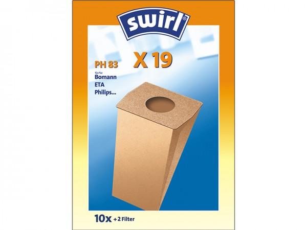 Swirl X 19 Staubsaugerbeutel - Inhalt 20 Stück